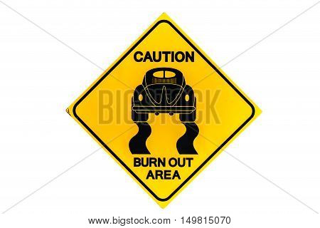 Roadsign race is isolated on white background
