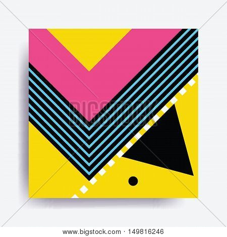 Colorful Trend Neo Memphis Geometric Pattern