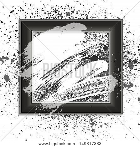 smudge and smear in a frame vector background illustration clip-art