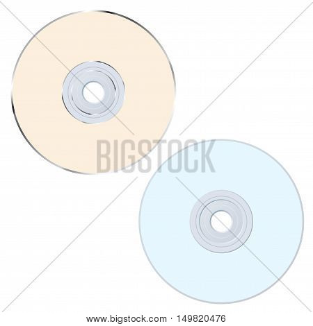 Set of two compact discs different colors