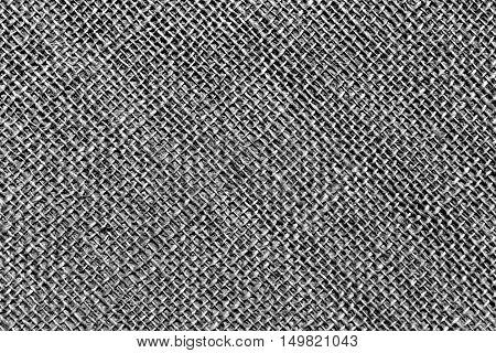 Black And White Sack Cloth Texture.