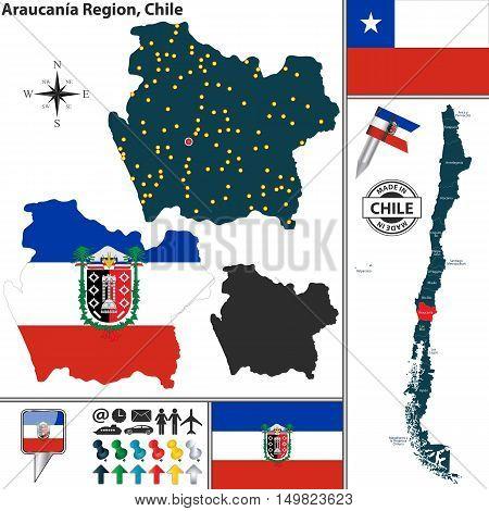 Map Of Araucania, Chile