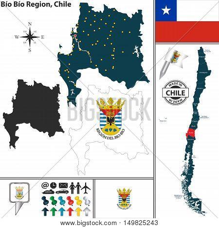Map Of Bio Bio, Chile