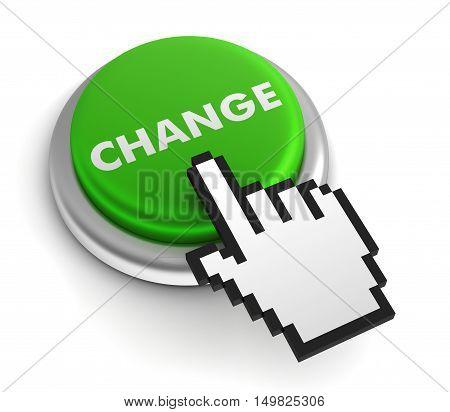 change  isolated on white background 3d illustration