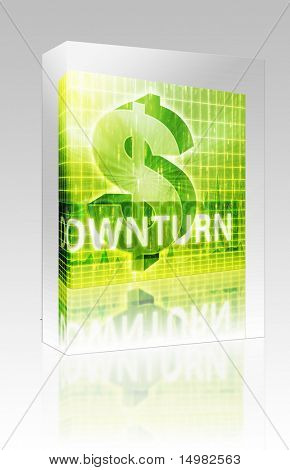 Software package box Software package box Downturn Finance illustration, dollar symbol over financial design