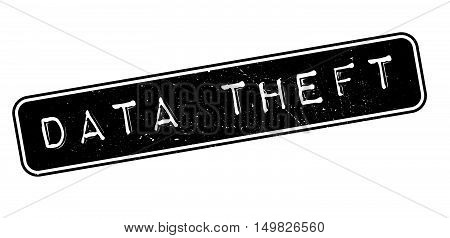 Data Theft Rubber Stamp