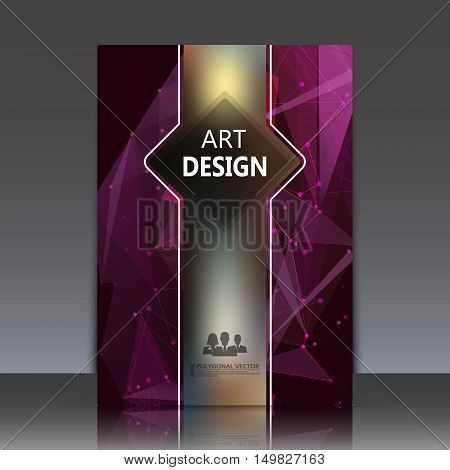 Abstract Composition, Polygonal Texture, A4 Brochure Title Sheet, Diamond Facet Theme Paperback, Pur