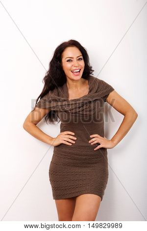 Trendy Older Woman Smiling With Confidence