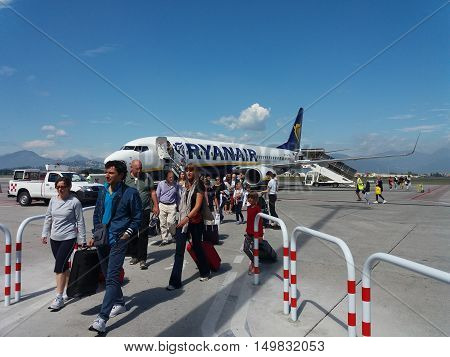 Ryanair Aircraft Boeing 737-800 With Passengers