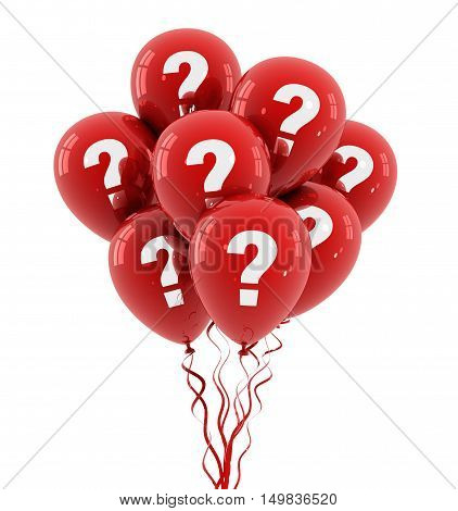 question balloon 3d illustration on white  background