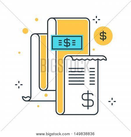 Color Line, Invoice, Bill Illustration