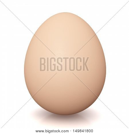 animal eggs 3d illustration isolated on white background