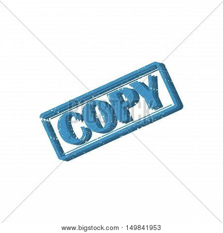 Rectangular stamp copy seal design isolated on white background vector illustration.