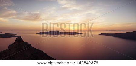 Beautiful View Of Santorini Island