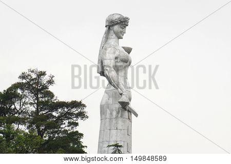 TBILISI, GEORGIA - JUNE 9, 2016: Statue of Mother Georgia in Tbilisi, Georgia.