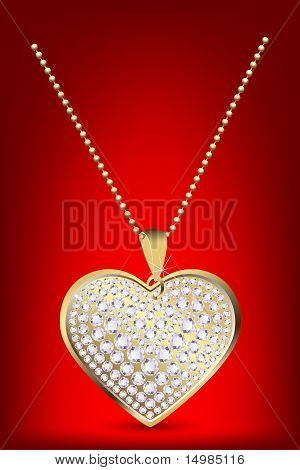 heart locket with chain