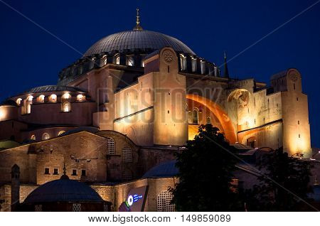 The very historical and magnificent Hagia Sophia