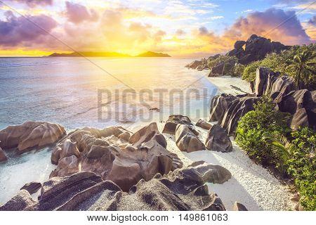 Epic Sunset On Seychells