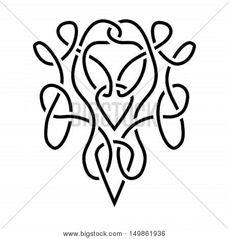 traditional vector celtic ornament - black and white