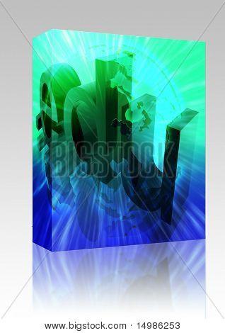 Software package box Dot edu education internet web url Asia illustration