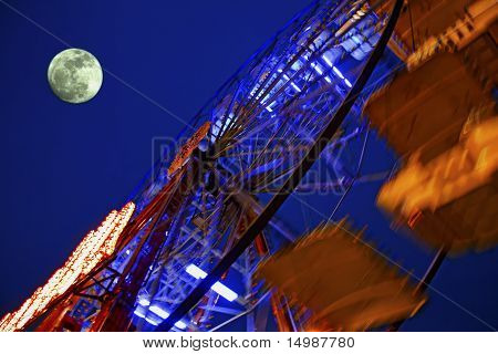 Big Wheel And Moon