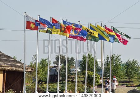 Number Of Different Flags With Coats Of Arms And Banners