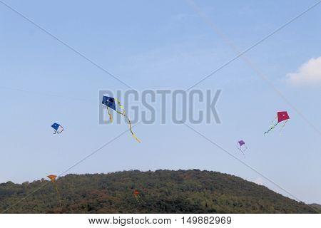 Rezzato,Brescia,Lombardy,Italy - October 01, 2016 ; Kite festival,a gathering of kite enthusiast