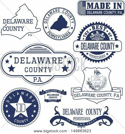 Generic Stamps And Signs Of Delaware County, Pa