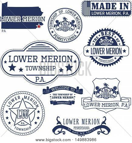 Generic Stamps And Signs Of Lower Merion Townhip, Pa