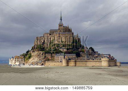 Mont Saint-Michel, France, September 29, 2016: The Mont Saint-Michel in France.