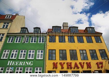 COPENHAGEN DENMARK - AUGUST 14 2016: Restaurant