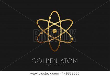 atom symbol. atom logo design. color atom. science logo