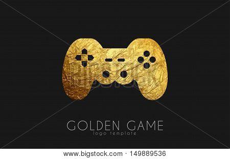 game logo design. joystick logo. Game pad design