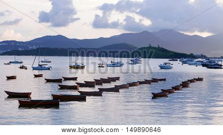 Sailboat, Recreational Boat, Motorboat On Sea