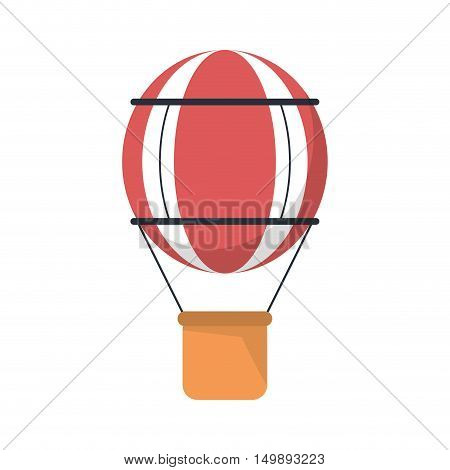 Hot air balloon icon. transportation adventure and freedom theme. Isolated design. Vector illustration