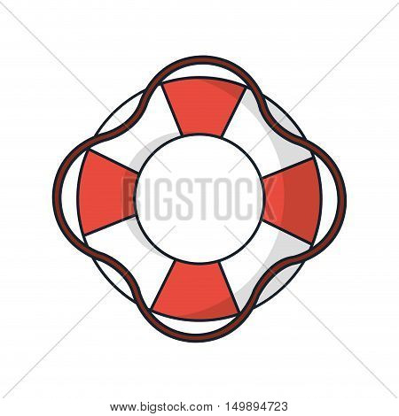 Float with rope icon. Summer vacations and sea lifestyle theme. Isolated design. Vector illustration
