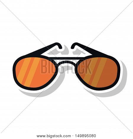 Glasses icon. Fashion style accessory and summer theme. Isolated design. Vector illustration