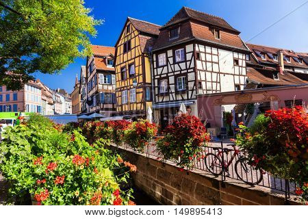 Beautiful romantic towns of France - Colmar in Alsace region