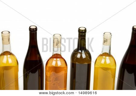 Assorted Colorful Bottles of Wine