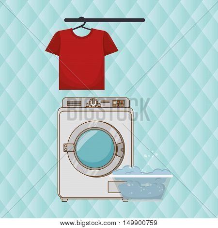 washing machine clothes detergent vector illustration eps 10
