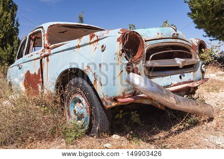 Old Abandoned Vintage Rusted Car