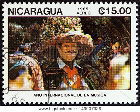 NICARAGUA - CIRCA 1985: A stamp printed in Nicaragua from the