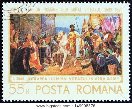 ROMANIA - CIRCA 1968: A stamp printed in Romania from the