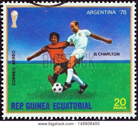 EQUATORIAL GUINEA - CIRCA 1977: A stamp printed in Equatorial Guinea from the