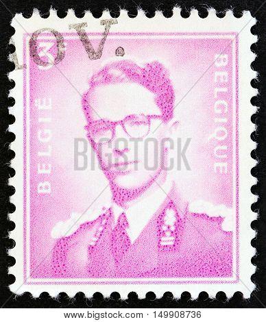 BELGIUM - CIRCA 1958: A stamp printed in Belgium shows King Baudouin,