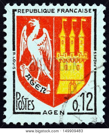 FRANCE - CIRCA 1964: A stamp printed in France from the