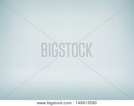 Studio photo background. Vector grey spotlight room backdrop. Light abstract gradient background