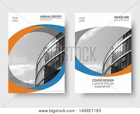 Color annual report cover, brochure design. Flyer layout, leaflet template. Presentation template, magazine cover. Book cover