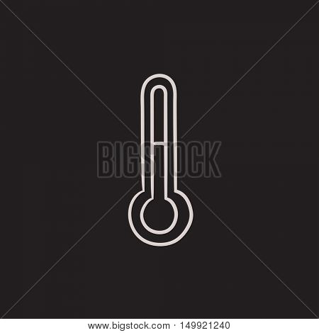 Thermometer vector sketch icon isolated on background. Hand drawn Thermometer icon. Thermometer sketch icon for infographic, website or app.