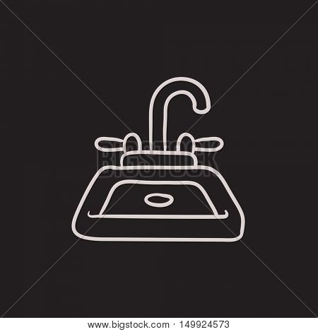 Sink vector sketch icon isolated on background. Hand drawn Sink icon. Sink sketch icon for infographic, website or app.